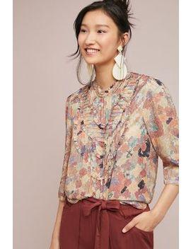 Ruffled Silk Tunic by Isla Maude