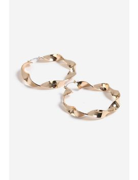 T**Wisted Hoop Earrings by Topshop