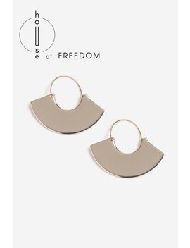 **House Of Freedom Hoop Earrings by Topshop