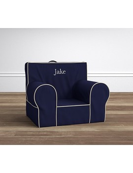 Navy With Stone Piping Anywhere Chair® by Pottery Barn Kids