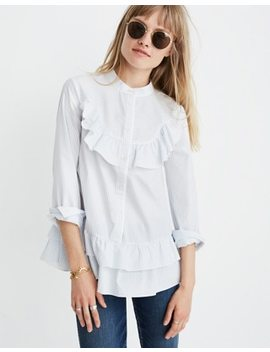 Madewell X Karen Walker® Striped Annie Shirt by Madewell