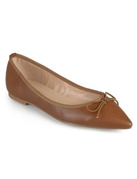 Journee Collection Women's 'lena' Pointed Toe Bow Ballet Flats by Journee Collection