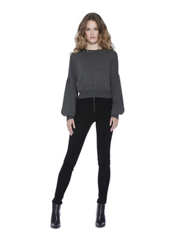 Dania Split Sleeve Crewneck Pullover by Alice And Olivia