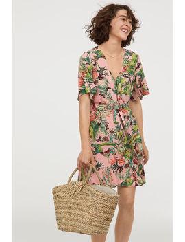フラウンスラップドレス by H&M