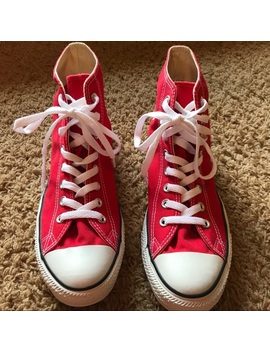 """Nwot Converse """"Chuck Taylor"""" Red High Tops by Converse"""