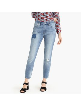 Petite Slim Boyfriend Jean With Patch And Distressing by J.Crew