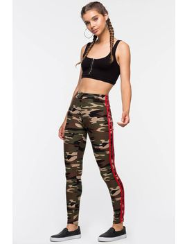 Contrast Camo Yummy Leggings by A'gaci