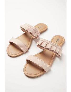 Everyday Double Strap Ruffle Slide by Cotton On