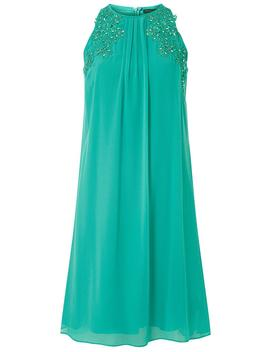 **Showcase Aquamarine 'lily' Trapeze Dress by Dorothy Perkins