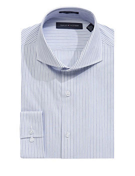 Slim Fit Broadcloth Stripe Dress Shirt by Tommy Hilfiger