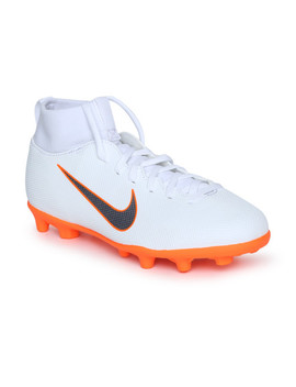 Nike Unisex White Jr Superfly 6 Club Football Shoes by Nike