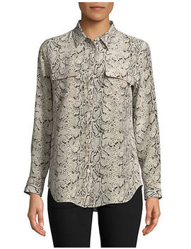 Anaconda Silk Shirt by Equipment