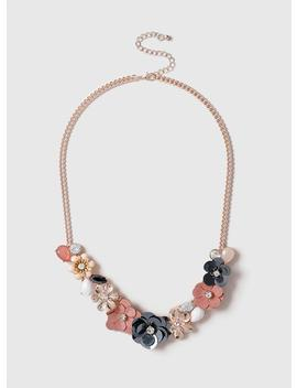 Pastel Mix Flower Collar Necklace by Dorothy Perkins