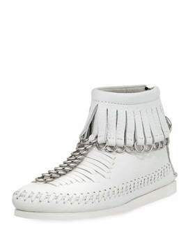 Montana Soft Pebbled Leather Moccasin Bootie by Alexander Wang