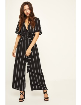 Luck & Trouble Happy Jumpsuit Black by Universal Store