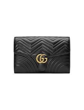 Gucci Black Gg Marmont Leather Clutch Baghome Women Gucci Bags Clutch Bags by Gucci
