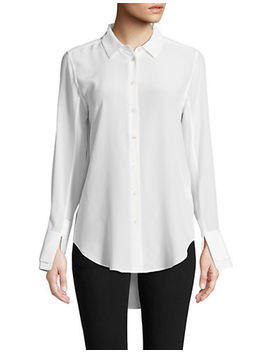 Split Cuff Silk Shirt by Equipment