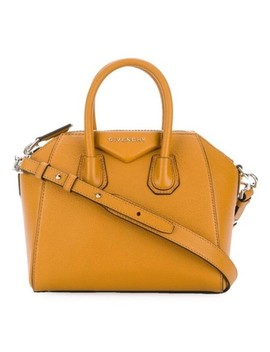 Antigona Amber Yellow Goat Skin Leather Cross Body Bag by Givenchy