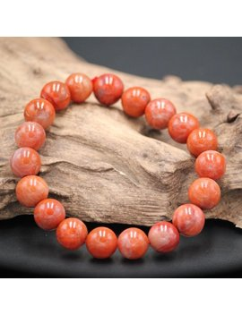 South Red Agate Jade Bead Bracelet Woman Gift Natural Jade Bracelet by Jade Artisan Gifts