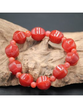 South Red Agate Jade Bracelet Woman Fashion Natural Jade Bracelet by Jade Artisan Gifts
