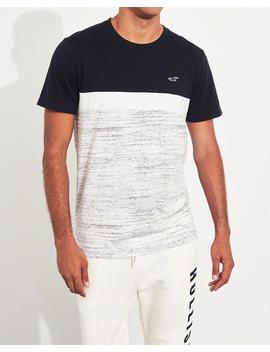 Camiseta Color Block Con Cuello Redondo by Hollister