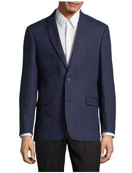 Classic Long Sleeve Linen Blazer by Tommy Hilfiger