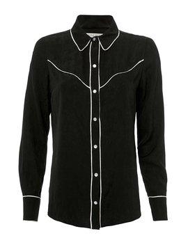 Mayben Western Silk Shirt by Veronica Beard