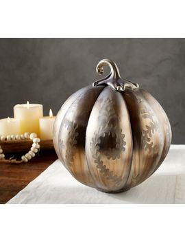 Oxidized Silver Pumpkin by Pottery Barn