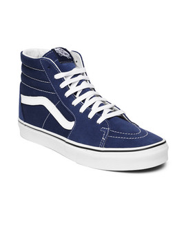 Vans Unisex Blue Solid Mid Top Sneakers by Vans