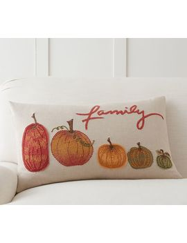 Pumpkin Family Lumbar Pillow Cover by Pottery Barn