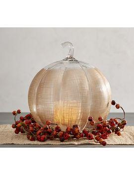 Linen Glass Pumpkin Candleholder by Pottery Barn