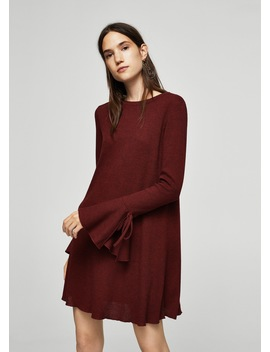 Sleeve Detail Dress by Mango