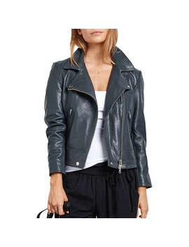 Hush Onyx Leather Jacket, Grey by Hush