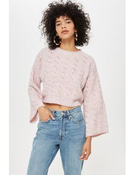 Stitch Detail Cropped Jumper by Topshop
