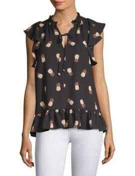 Pineapple Print Top by Kate Spade New York