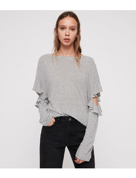 Favro Stripe T Shirt by Allsaints