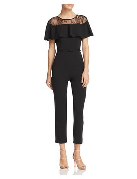 Lace Inset Jumpsuit by Adrianna Papell