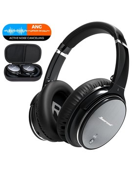 Noise Cancelling Bluetooth Headphones Wireless   Over Ear Headphones With Hi Fi Stereo Sound, Build In Mic, Supports Handsfree Calling And Wired Mode For Phones, Pc, Tv And Air Travel by Amazon