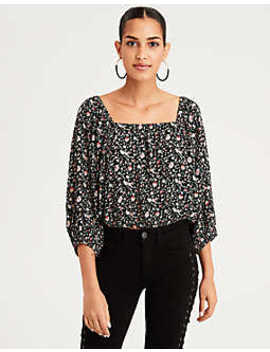 Ae Cropped Off The Shoulder Top by American Eagle Outfitters