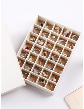 35 Compartment Jewellery Organizer With Cover by Sheinside
