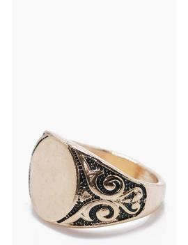 Vintage Signet Ring by Boohoo