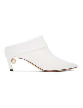 White Leather Mira Mules by Nicholas Kirkwood