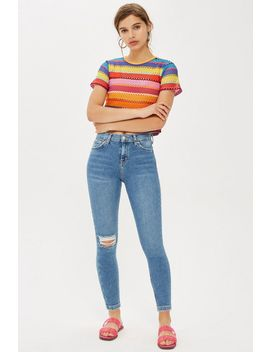 Petite Single Rip Jamie Jeans by Topshop
