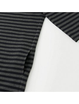 Women Striped Crewneck 3/4 Sleeve Dress by Uniqlo