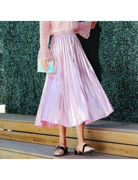 High Waist Midi A Line Skirt by Dewsy