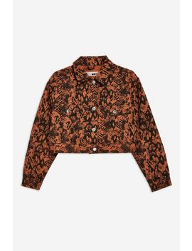 Snake Print Jacket by Topshop