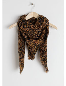 Leopard Print Wool Scarf by & Other Stories