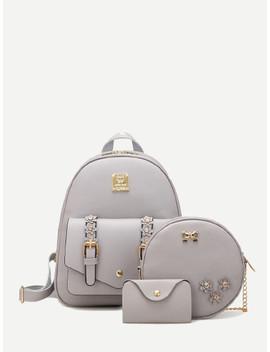 Applique Decor Combination Bag 3pcs by Sheinside