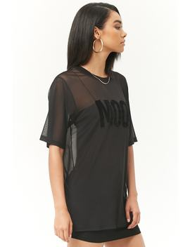 Mesh Mood Graphic Tunic by Forever 21