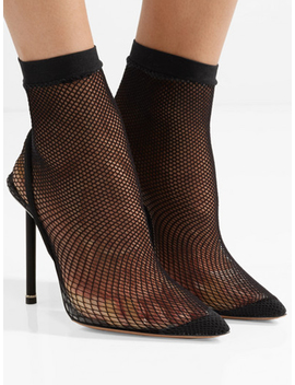 Black Fishnet Sock Chic Women Pointed High Heeled Pumps by Choies